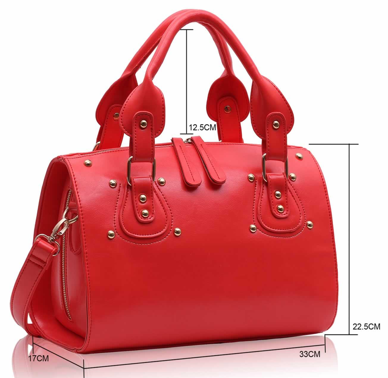 Wholesale Coral Studded Fashion Satchel Handbag