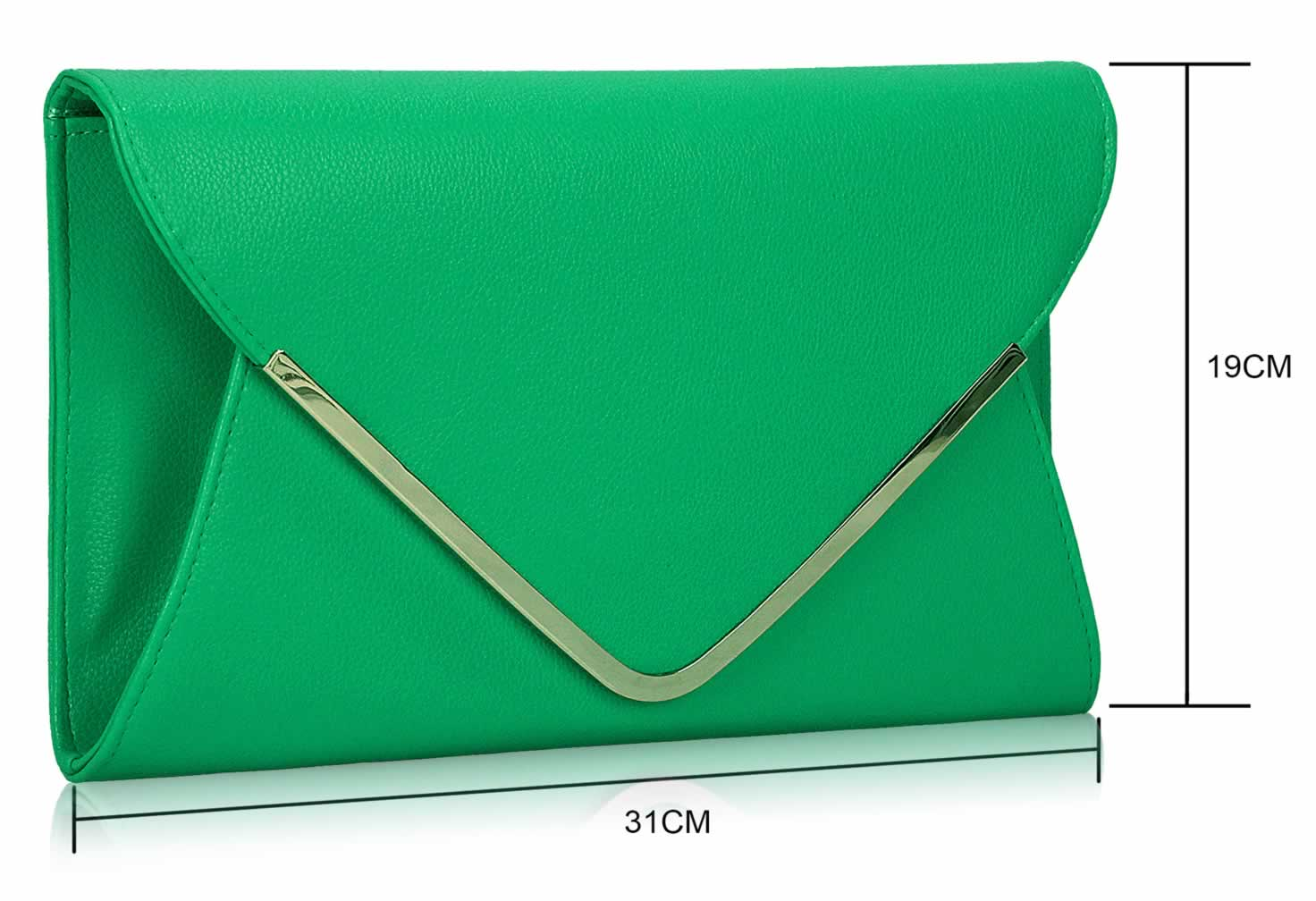 Wholesale Emerald Large Flap Clutch purse