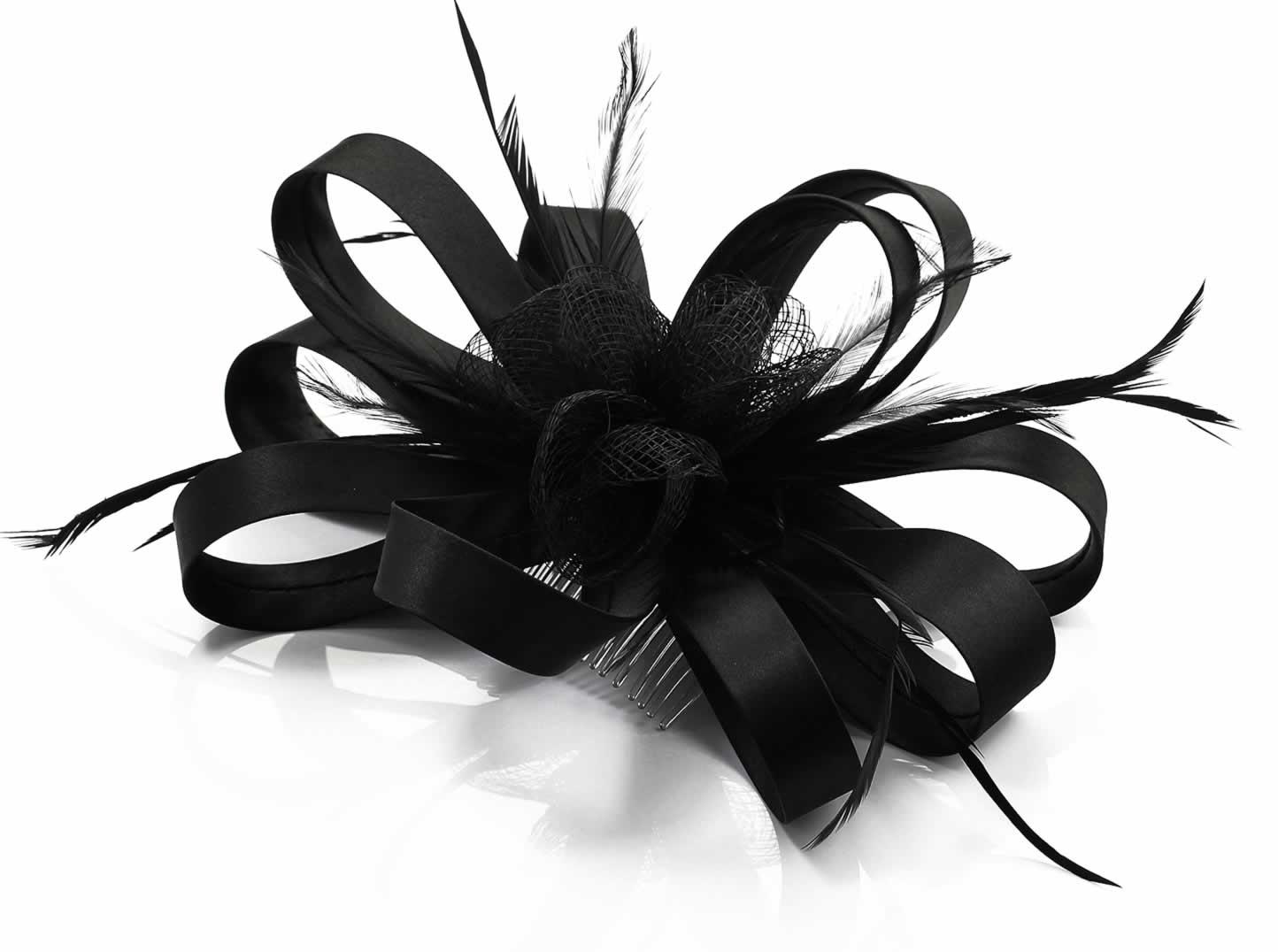 Wholesale Black Loop   Feather Fascinator on Comb 525501563ae