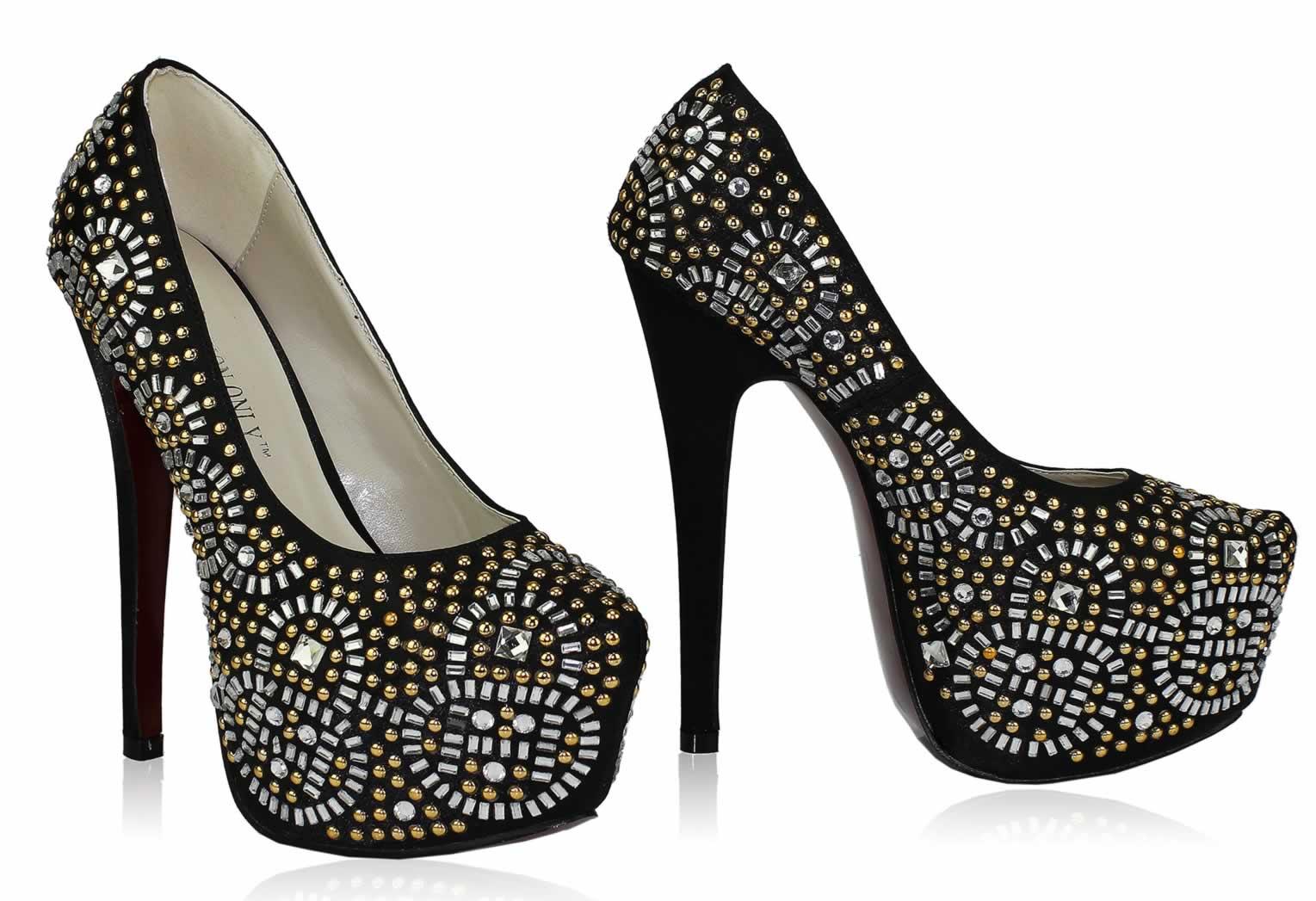 Wholesale Shoes    LSS00117 - Wholesale Shoes -- Black Studded Platform  Shoes - Ladies handbags, clutch bags and fashion accessories ab70dd6373