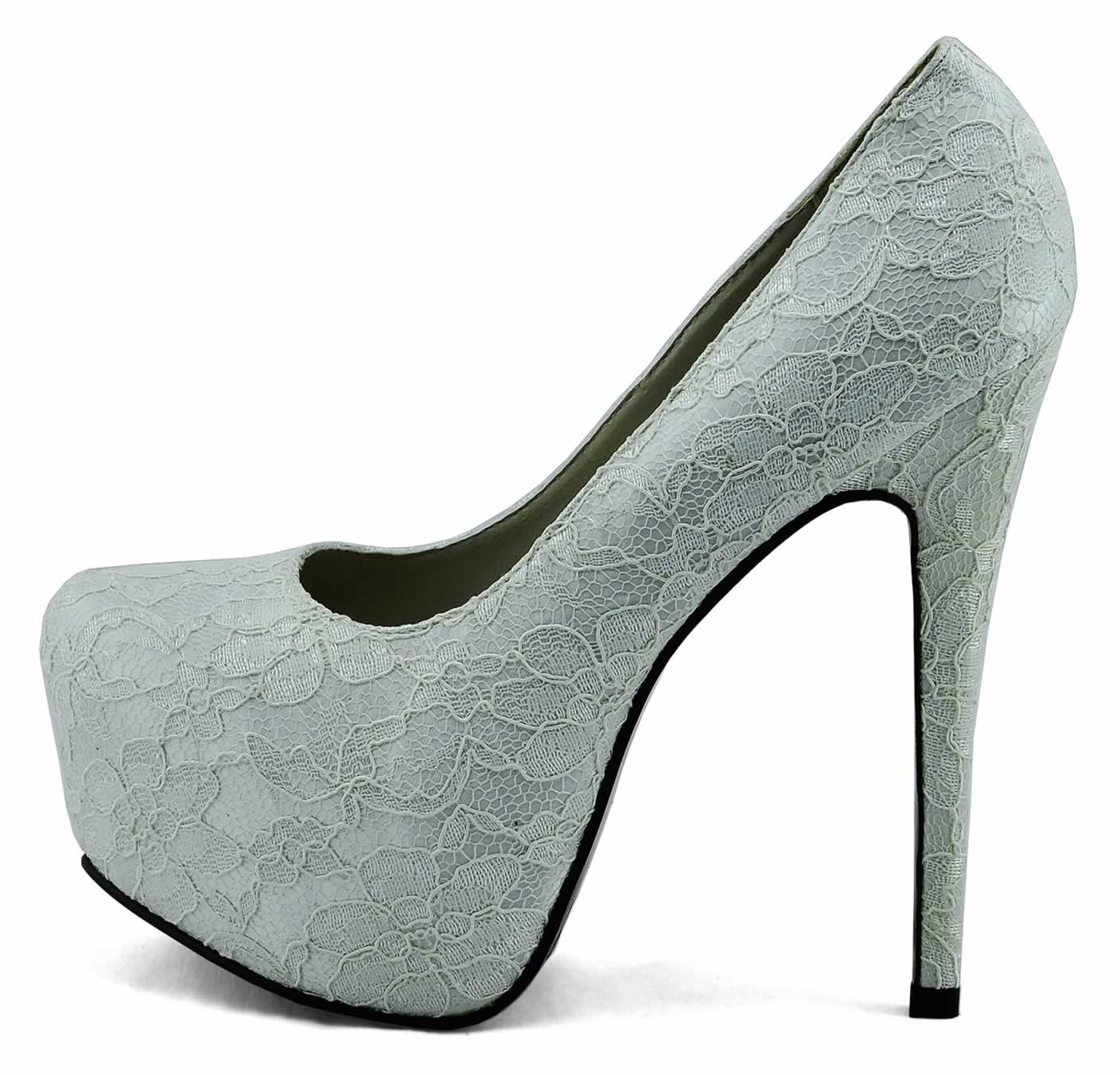 shoes lss00125 ivory lace covered platform court