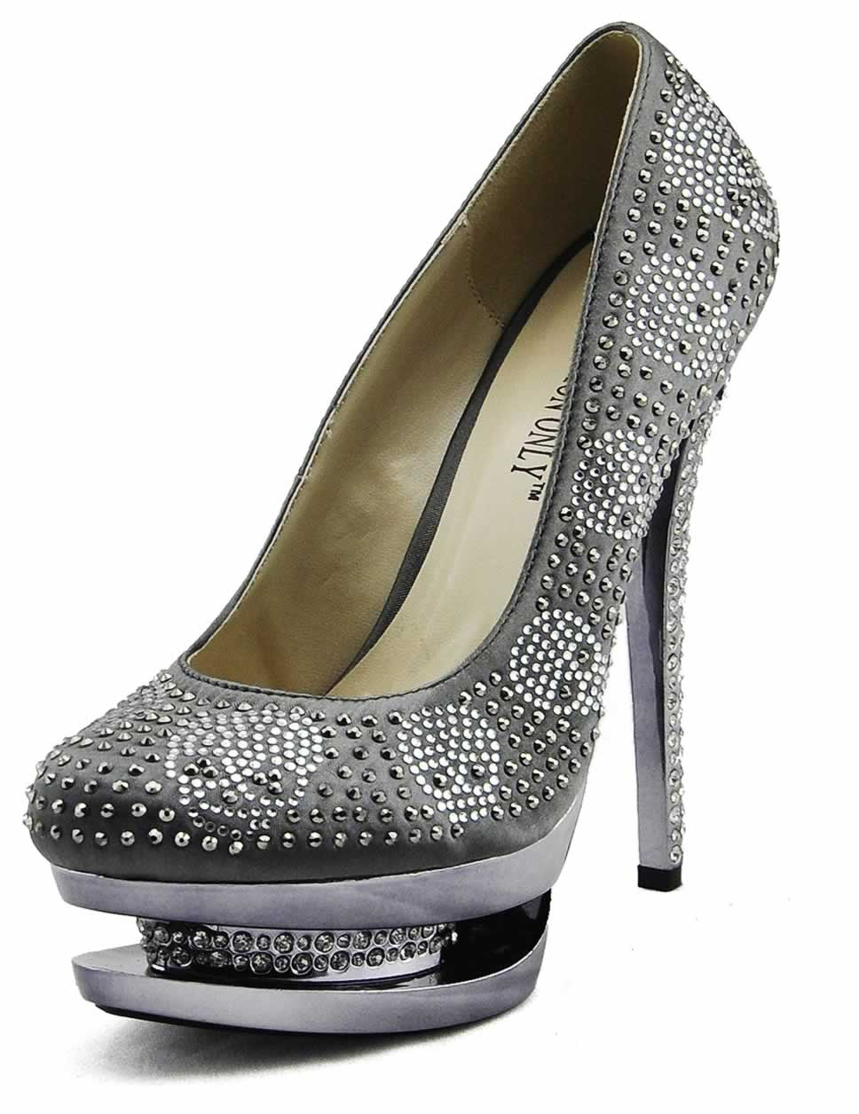 wholesale grey platform high heel shoes
