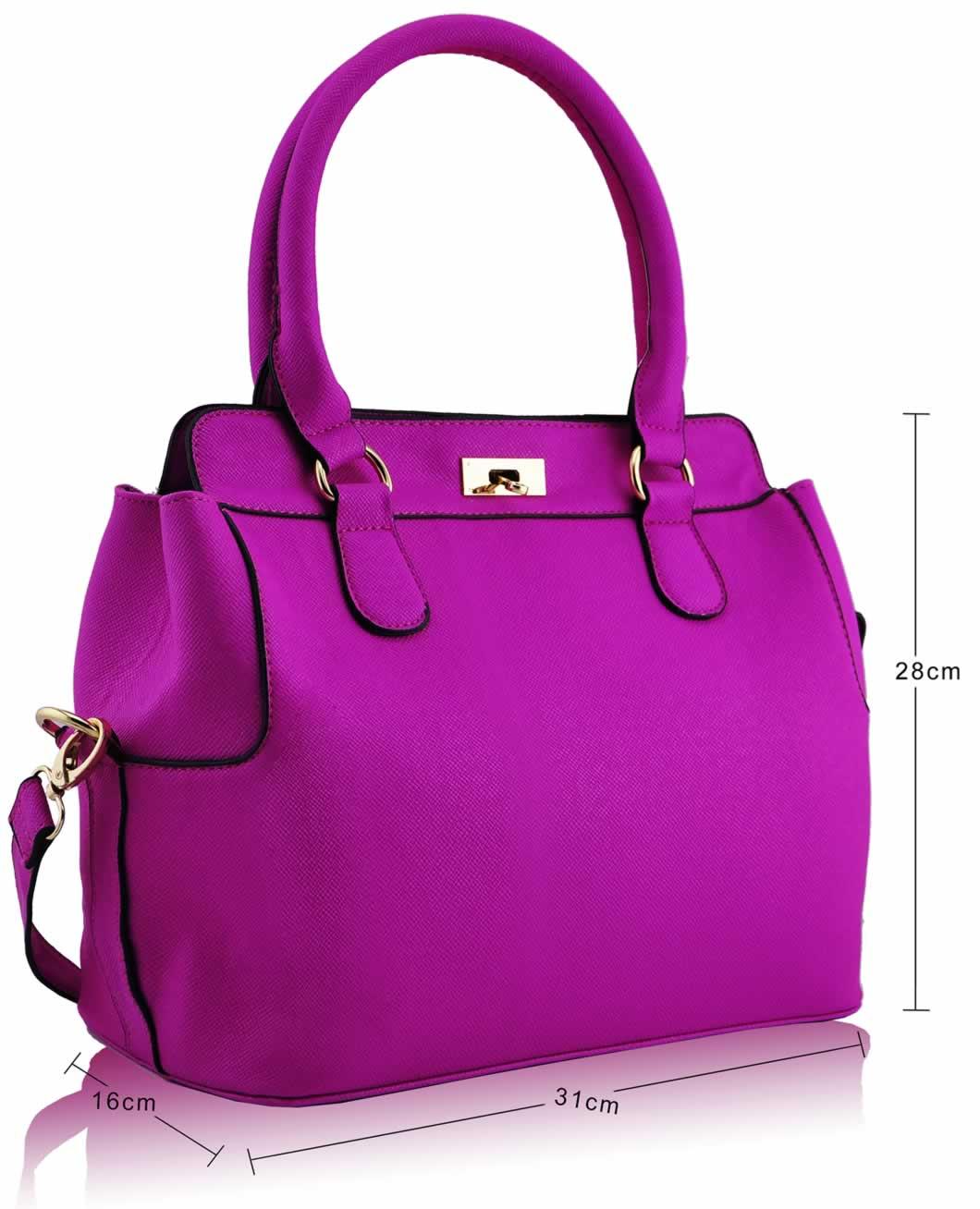 Home HANDBAGS LS0025 - Purple Fashion Tote Handbag