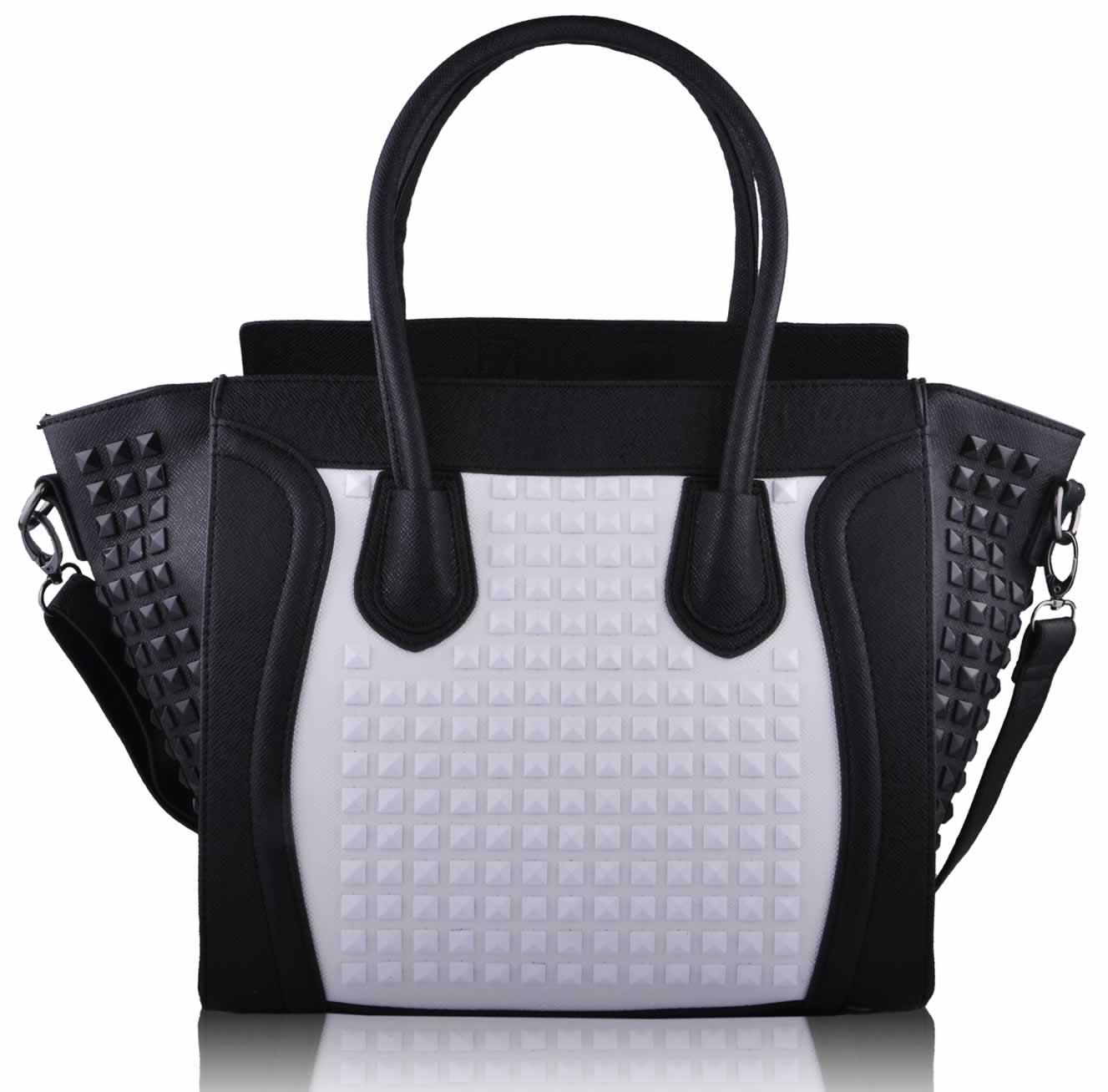 Wholesale Black / White Tote Handbag
