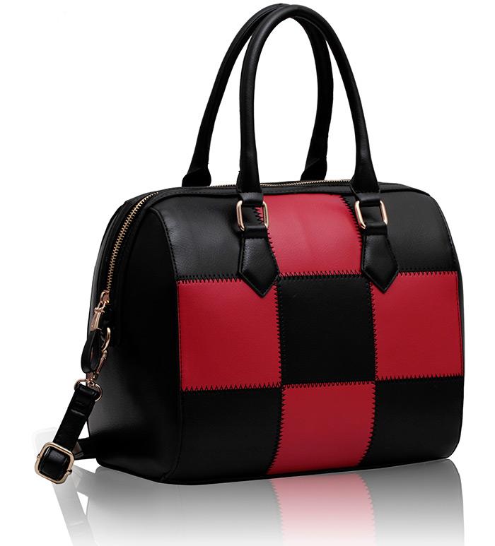 3459c7c55fee Wholesale Bags    LS0041 - Black and Red Checkered Grab Bag - Ladies  handbags