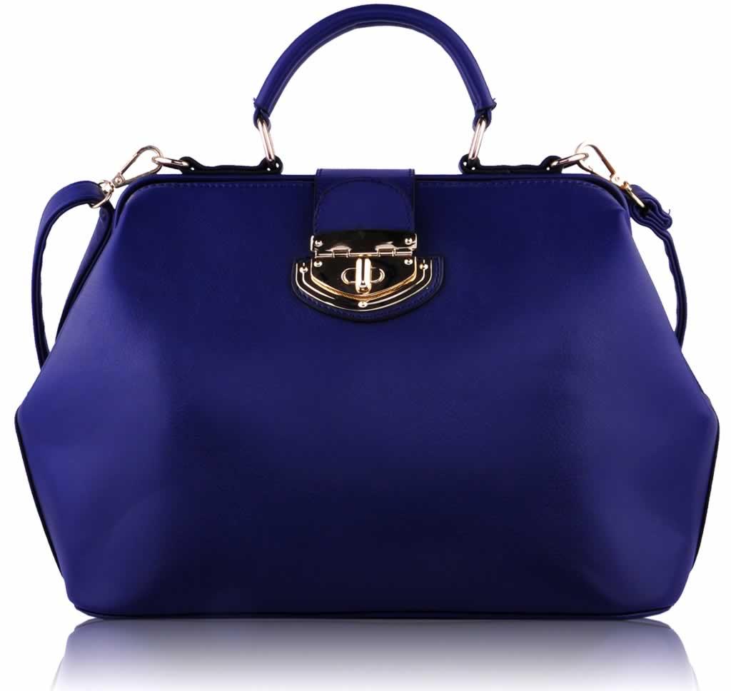 Home HANDBAGS LS0048 - Blue Doctor Satchel Handbag
