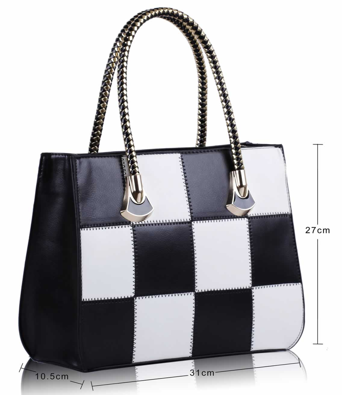 Black And White Bathroom: Wholesale Black And White Checkered Grab Shoulder Bag