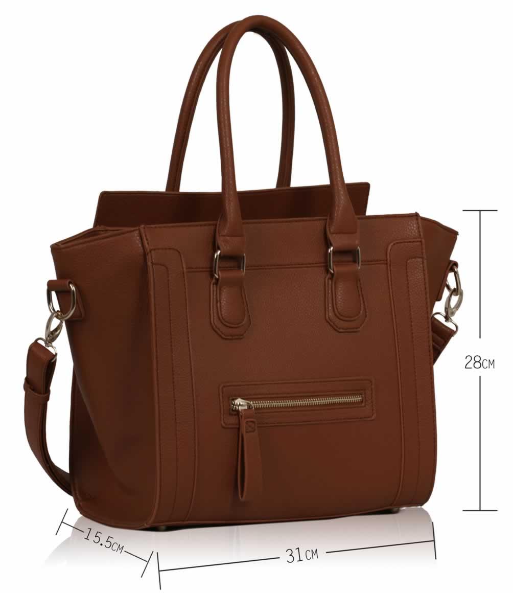 Wholesale Brown Smile Tote Handbag