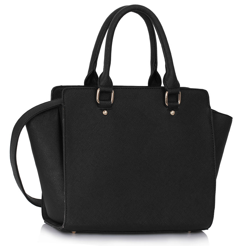 More Details MCM Milla Mini Leather Tote Bag, Black Details MCM grained leather tote bag with brass hardware. Rolled top handles with hanging logo tag, 3