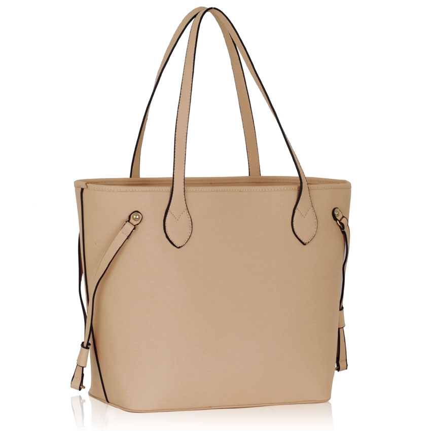 LS00298 - Nude Tote Shoulder Bag