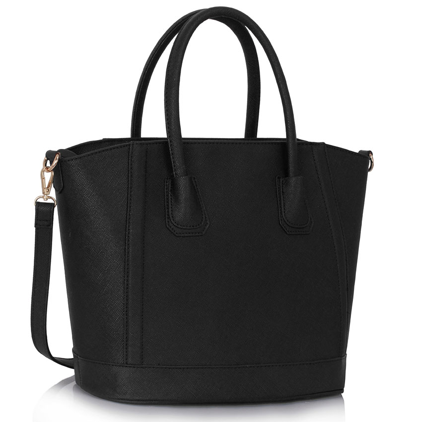 4b674e84b8 Black Tote Bag With Long Strap. February 16