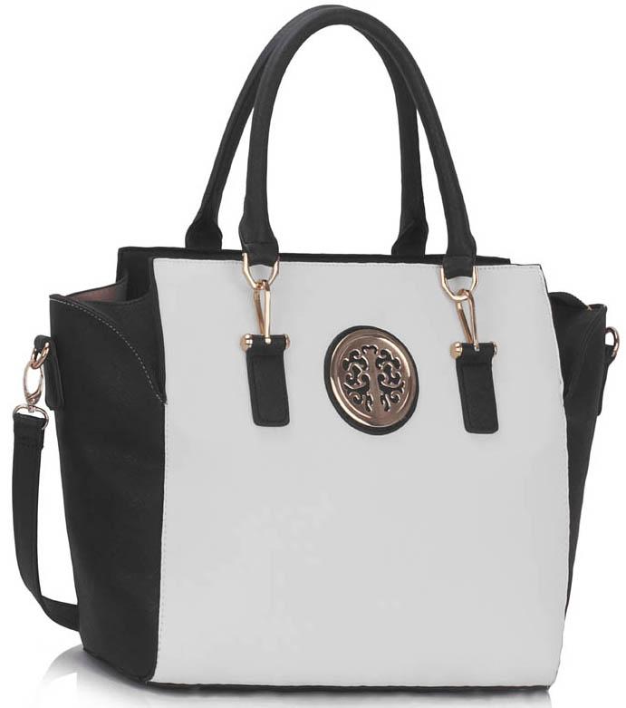 LS00353  -  Kabelka Černá/Bílá barva