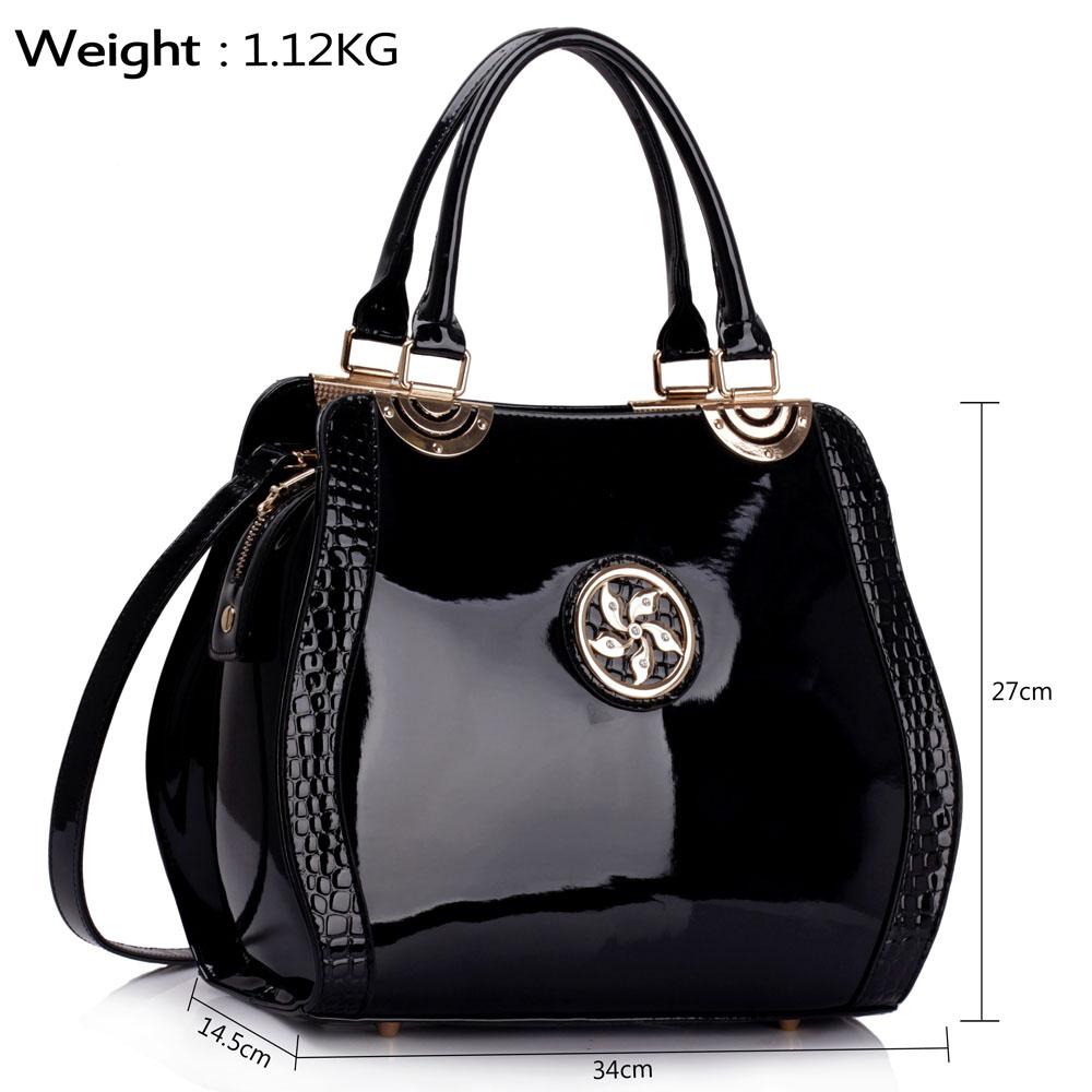 Black Patent Grab Bag