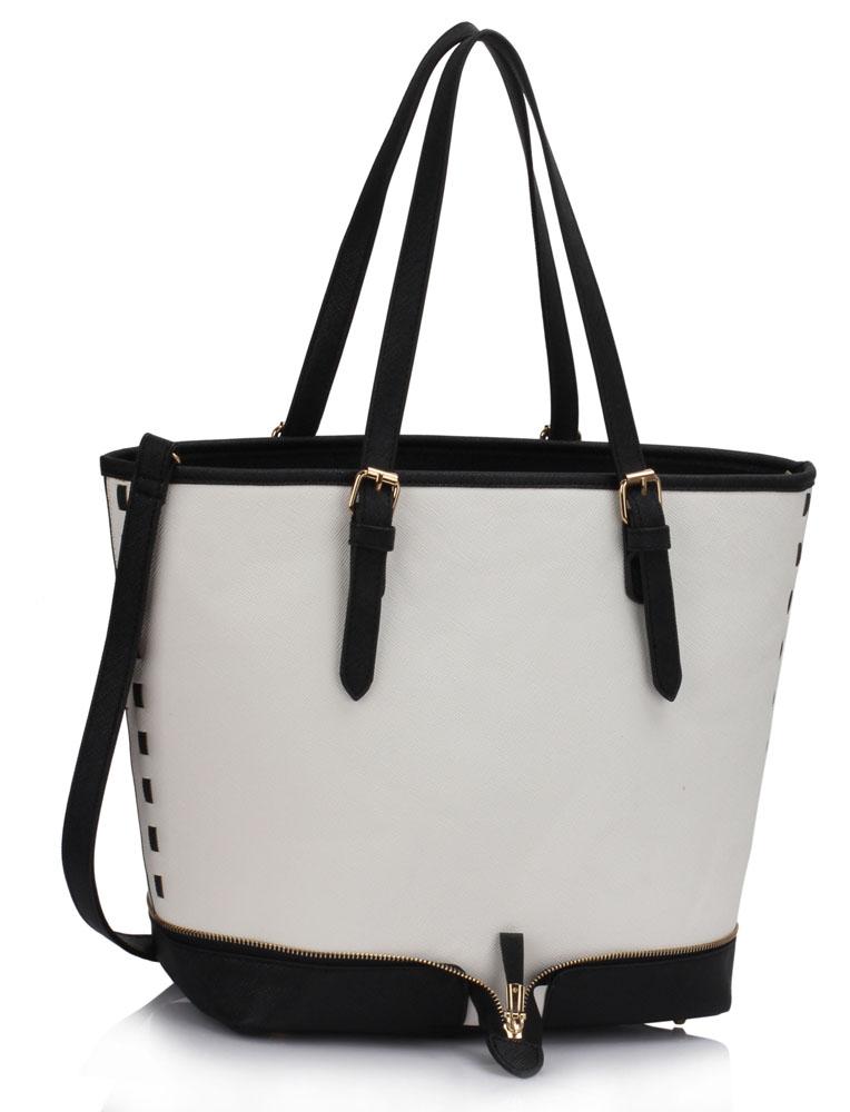 LS00315  -  Kabelka Černá/Bílá barva