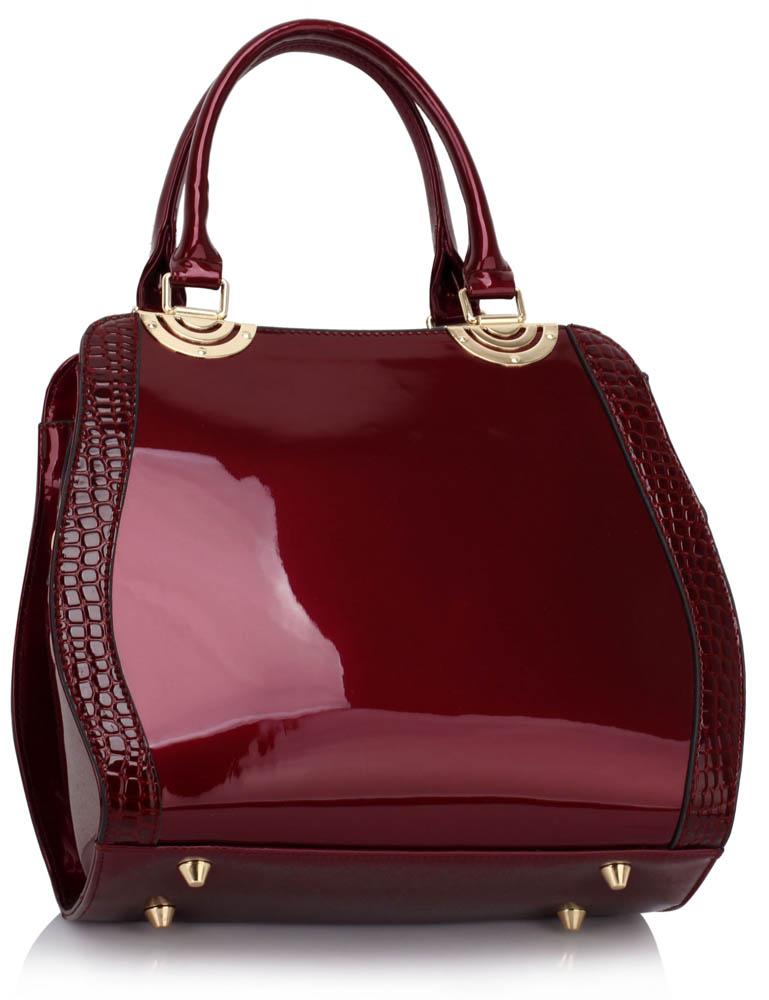 Burgundy Patent Grab Bag