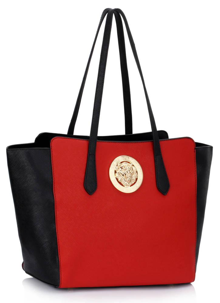 LS00403  -  Kabelka Černá/Červená barva