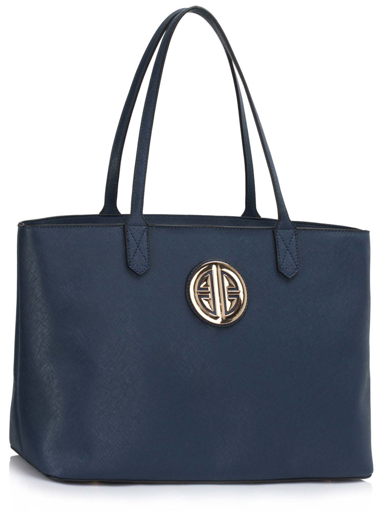 Ls00407 Navy Women S Large Tote Shoulder Bag