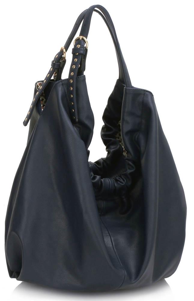 LS00458 - Large Navy Hobo Bag