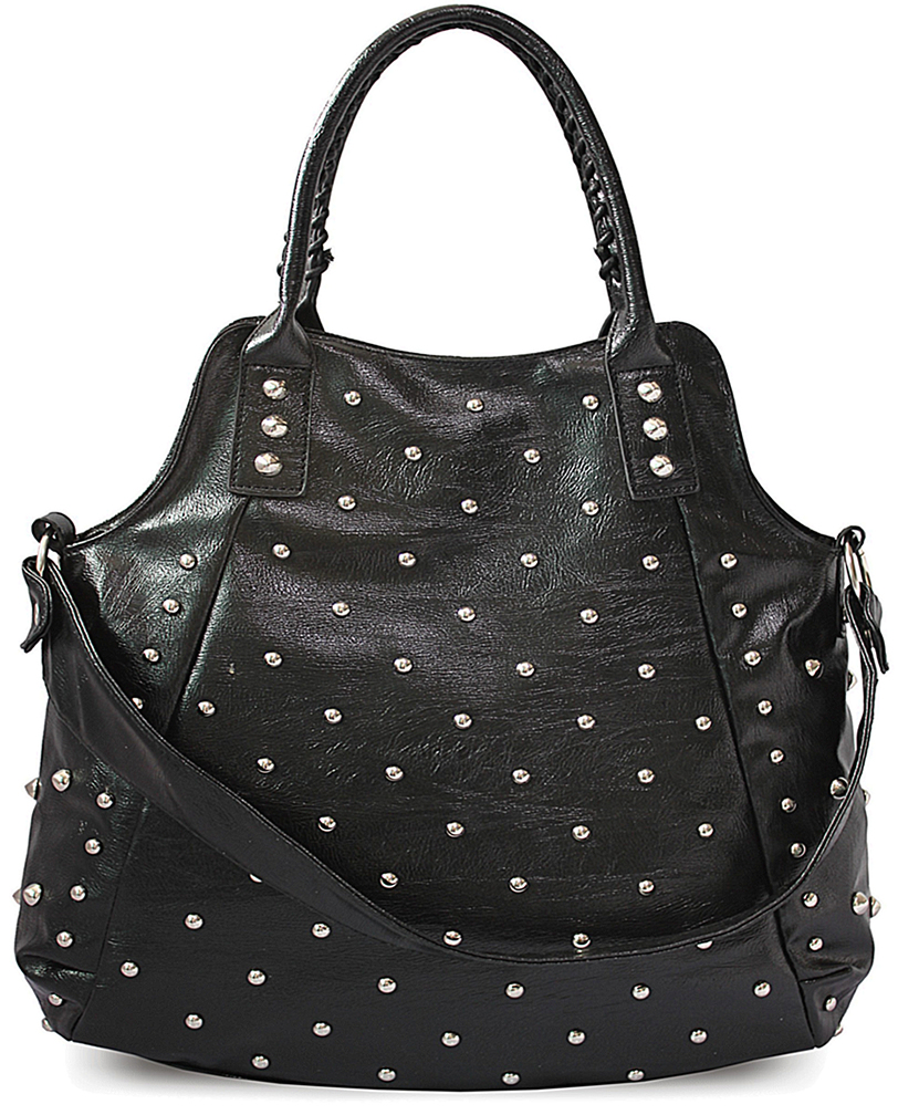 Black studded cross body bag key features zip closure flap-top with buckle fastening adjustable strap internal pocket back zip pocket grab handle multi-color stud detail valentino inspired material % synthetic approx. Measurements width 20 cm height 17 cm depth cm.