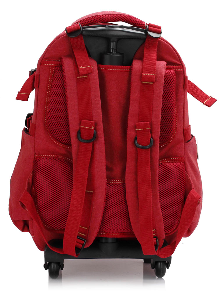 wholesale red backpack rucksack with wheels ag00398a ls00398a. Black Bedroom Furniture Sets. Home Design Ideas