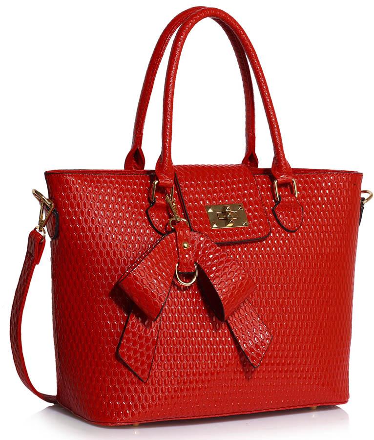 LS00485  -  Kabelka Červená barva
