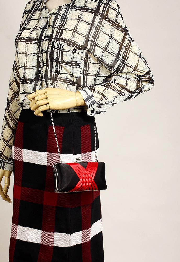 e986418d696 Wholesale Black   Red Satin Evening Clutch Bag