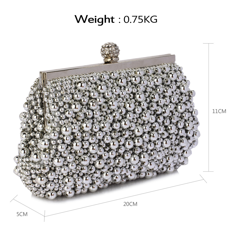 8c212e13bfff7 Wholesale LSE00296 - Silver Vintage Beads Pearls Crystals Evening ...