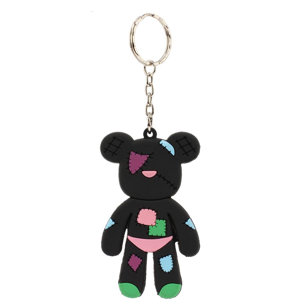 Wholesale Black Patches Teddy Bear Bag Charm AGCK1070 7d236064100e