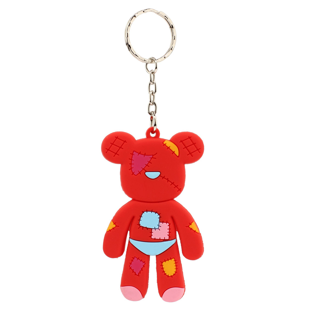 66e703e3a212 Wholesale Red Patches Teddy Bear Bag Charm AGCK1071