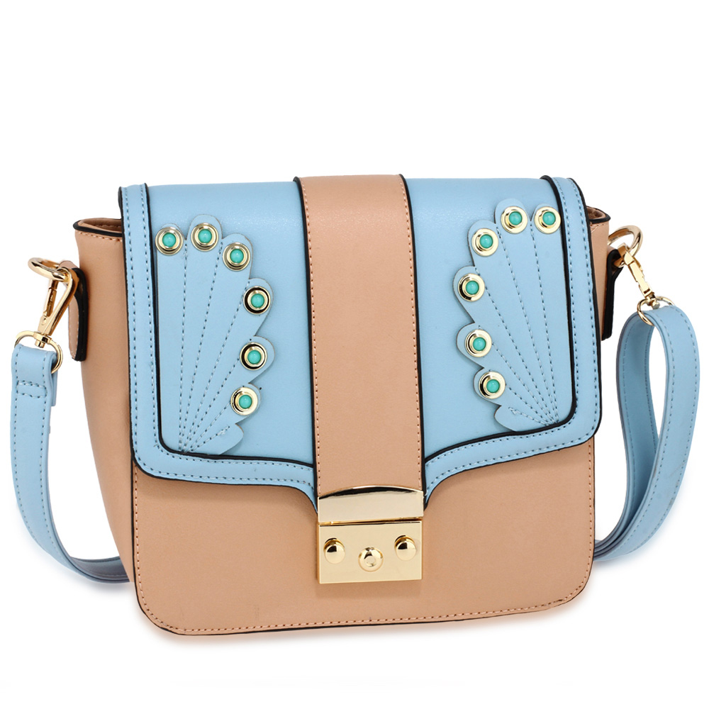 7bb21d7dcf53 Wholesale Pink / Blue Canvas Cross Body Bag School Messenger Shoulder Bag  AG00628