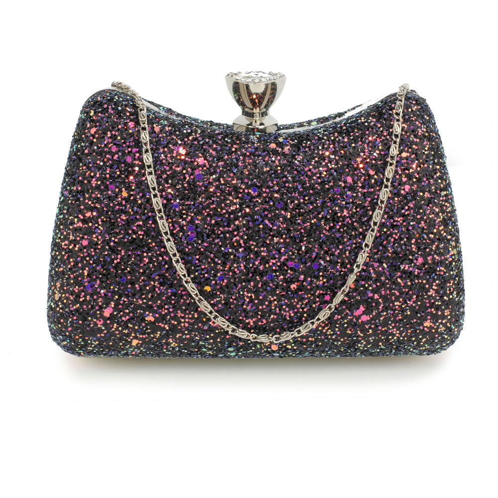 2d9433fc83cb Wholesale Black Hard Case Diamante Clutch Bag AGC00360A