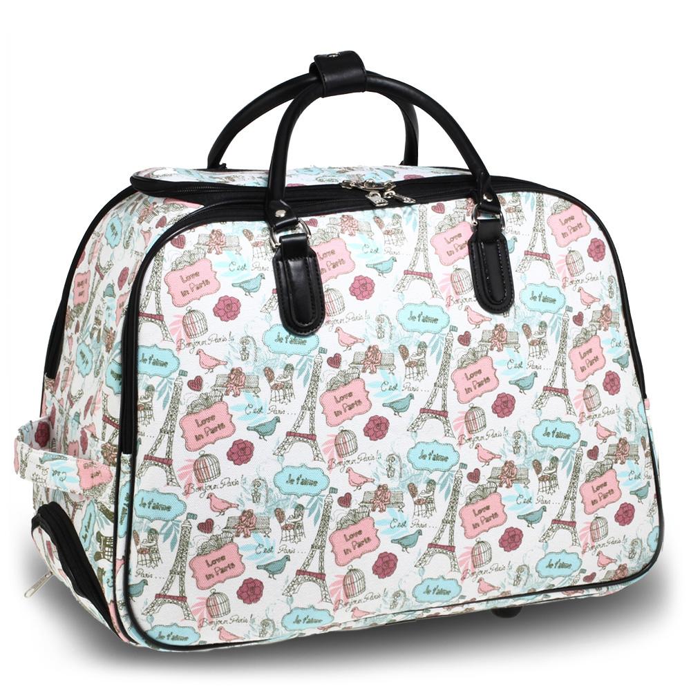 AGT1011A  -  Cestovní taška Modro/Bílá barva