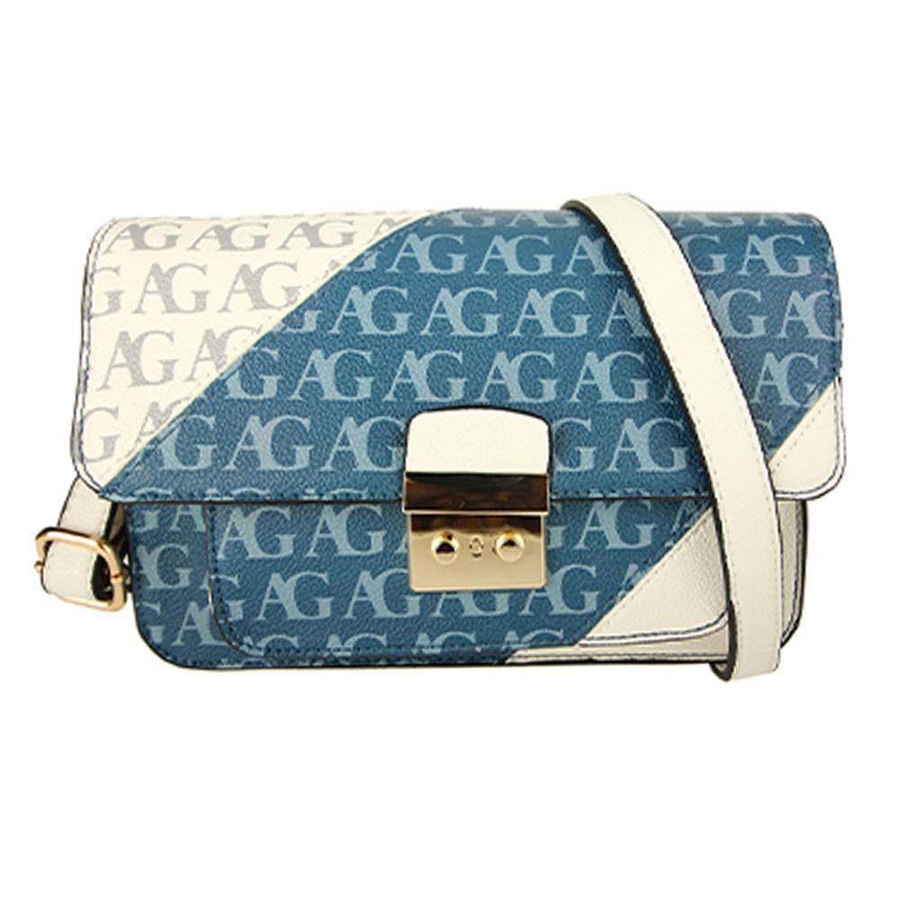 AG00744  -  Kabelka Modrá/Bílá barva