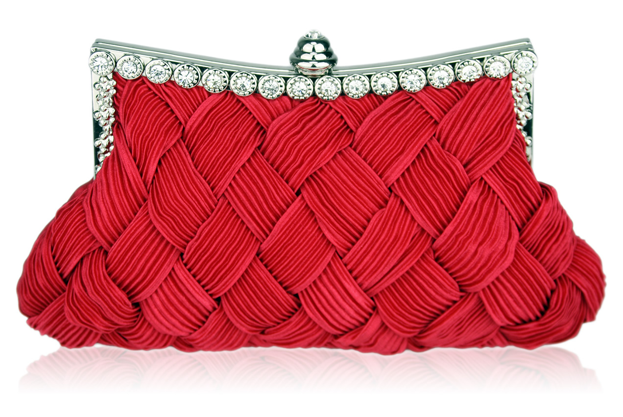 Wholesale Red Crystal Evening Clutch Bag