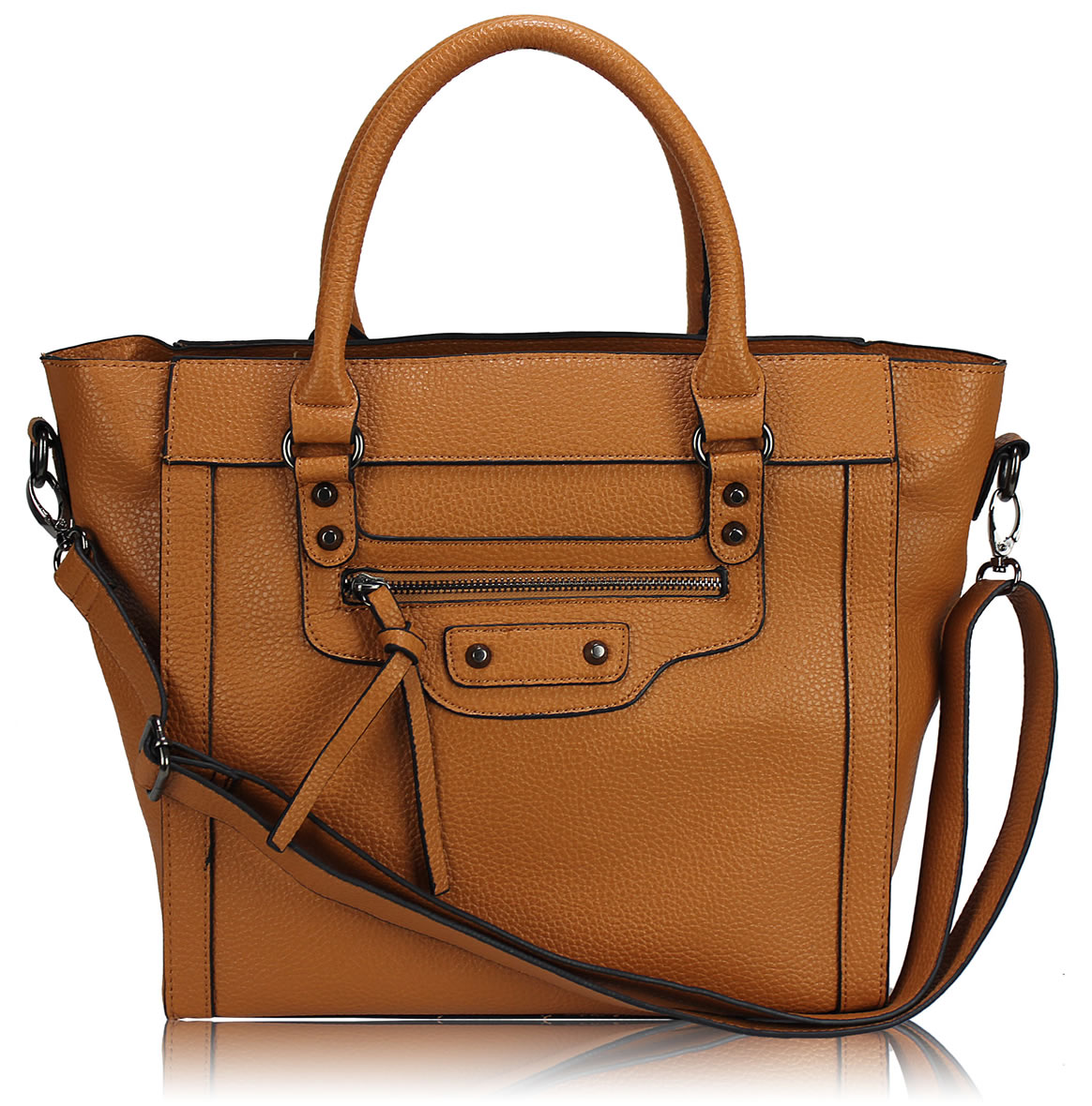 Wholesale Brown Tote Handbag With Long Strap