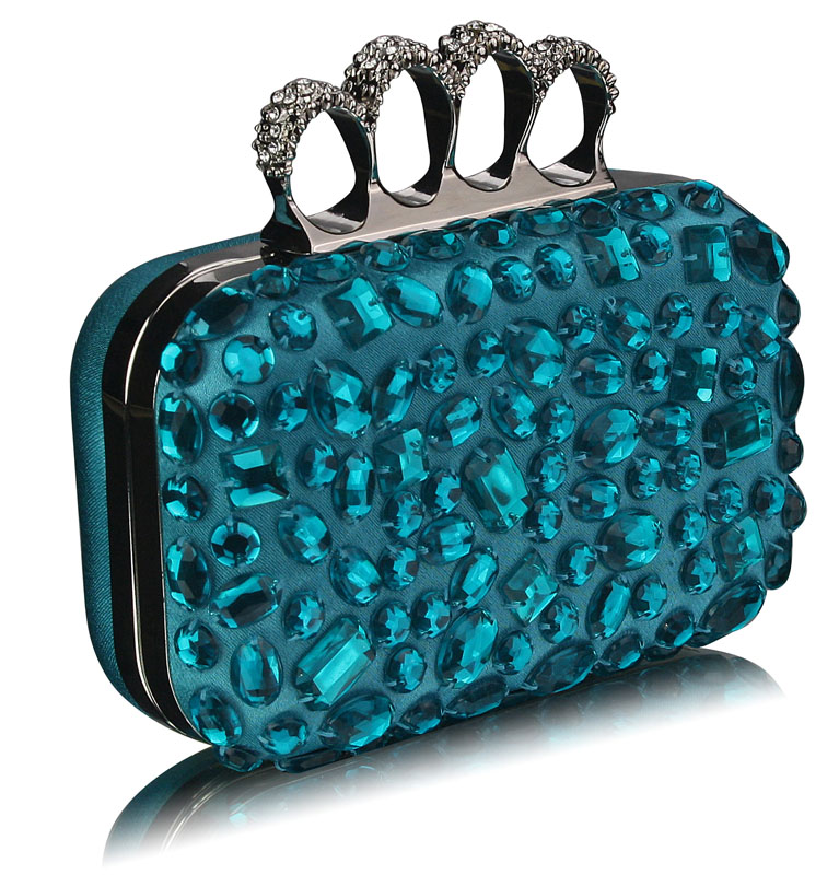 Wholesale Turquoise Skull Knuckle Rings Clutch With