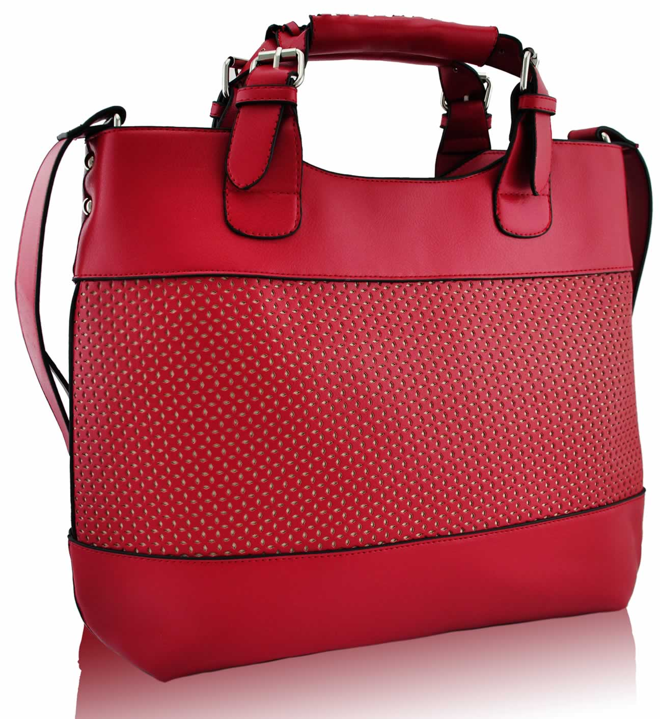 Wholesale Red Ladies Fashion Tote Handbag In Brown