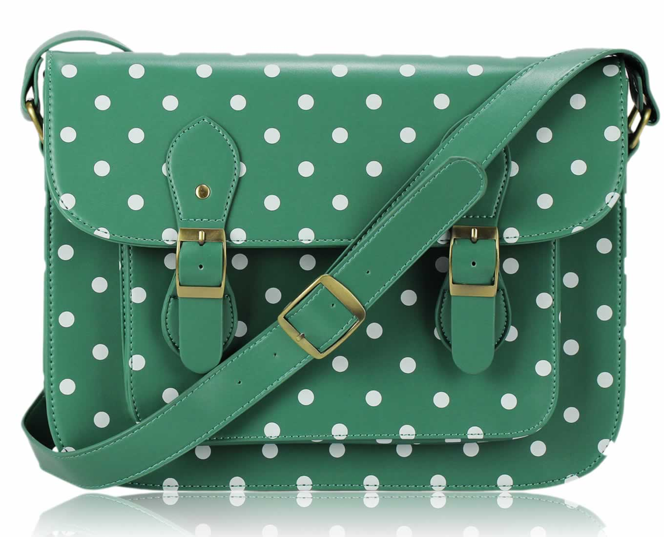 Wholesale Womens Olive Spotty Satchel Shoulder Handbag