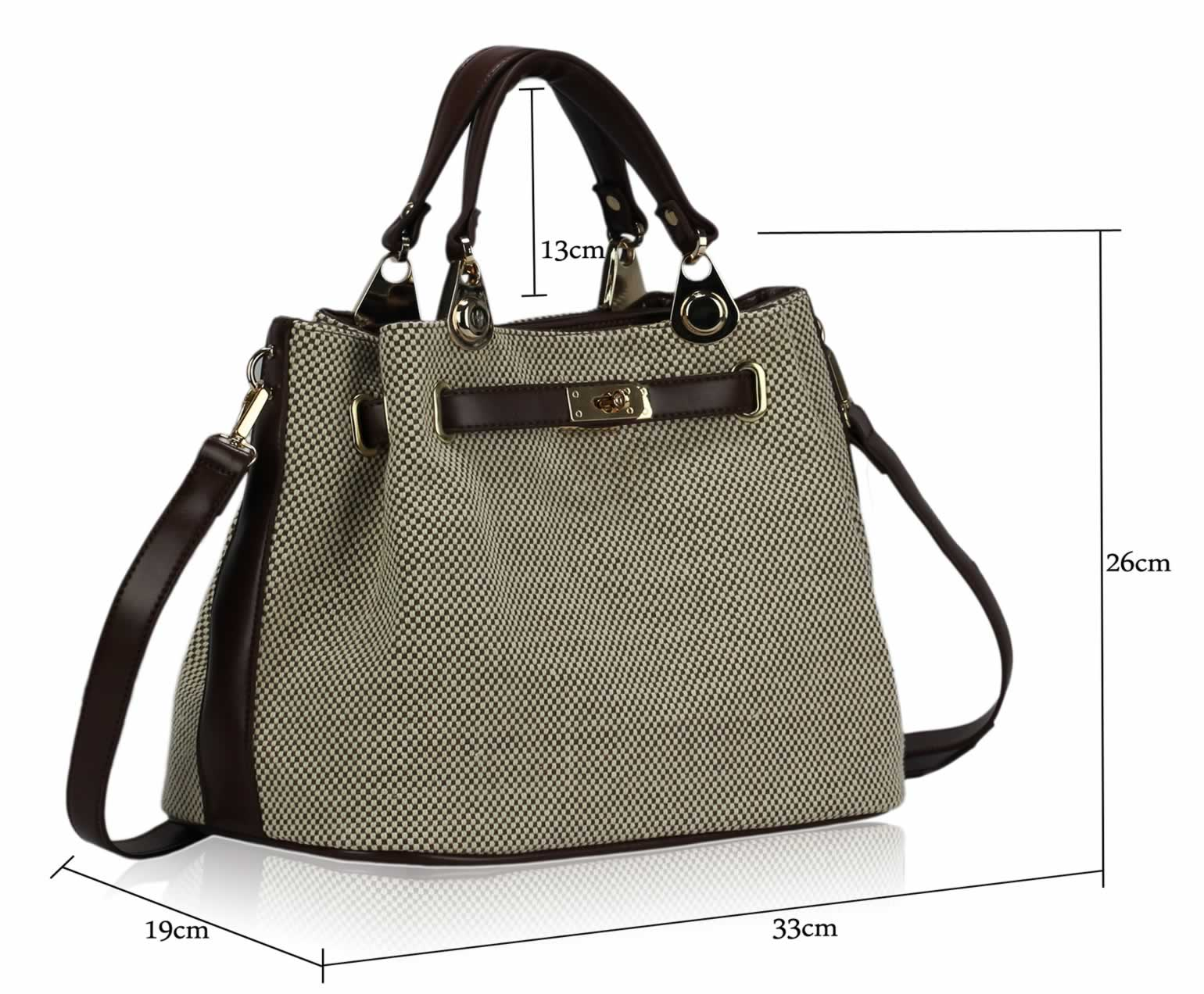 Wholesale Brown Tote Bag With Long Strap