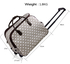 AGT00309 - Grey Light Travel Holdall Trolley Luggage With Wheels - CABIN APPROVED