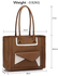 LS00487 - Wholesale & B2B Taupe Front-pocket Tote Shoulder Bag Supplier & Manufacturer
