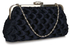 LSE00321- Navy Wave Folds Evening Clutch Bag