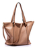 LS00413 - Large Nude Shoulder Handbag