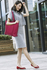 LS00413 - Large Burgundy Shoulder Handbag