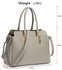 LS00418A - Grey Women's Tote Bag With Polished Hardware