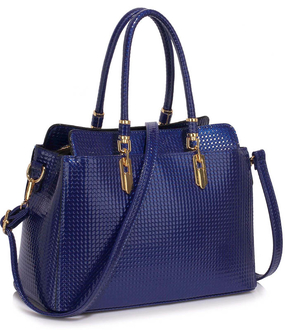 LS00418A - Wholesale & B2B Navy Women's Tote Bag With Polished Hardware Supplier & Manufacturer