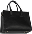 LS00310A - Black Buckle Detail Tote Shoulder Bag