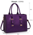 LS00310A - Purple Buckle Detail Tote Shoulder Bag