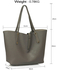 LS00504 - Large Grey Shoulder Handbag