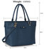 LS00507 - Navy Decorative Bow Tie Tote Shoulder Bag